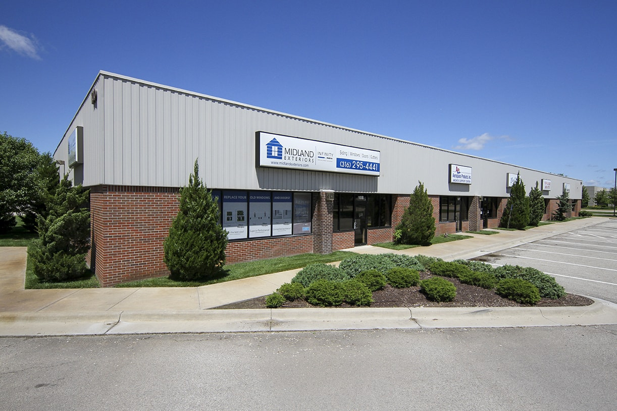 Anderson Management warehouse/office space for lease in Wichita, KS.